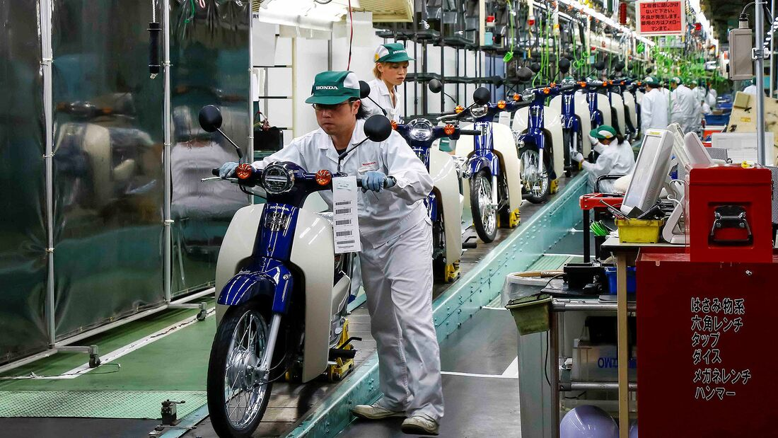 Honda Motorrad Produktion Super Cub