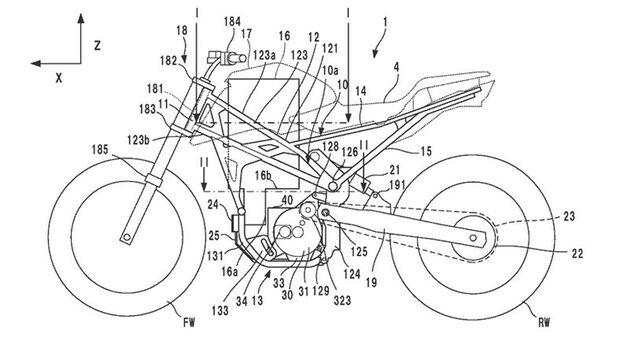 Honda Patent E-Bike Jan 2021