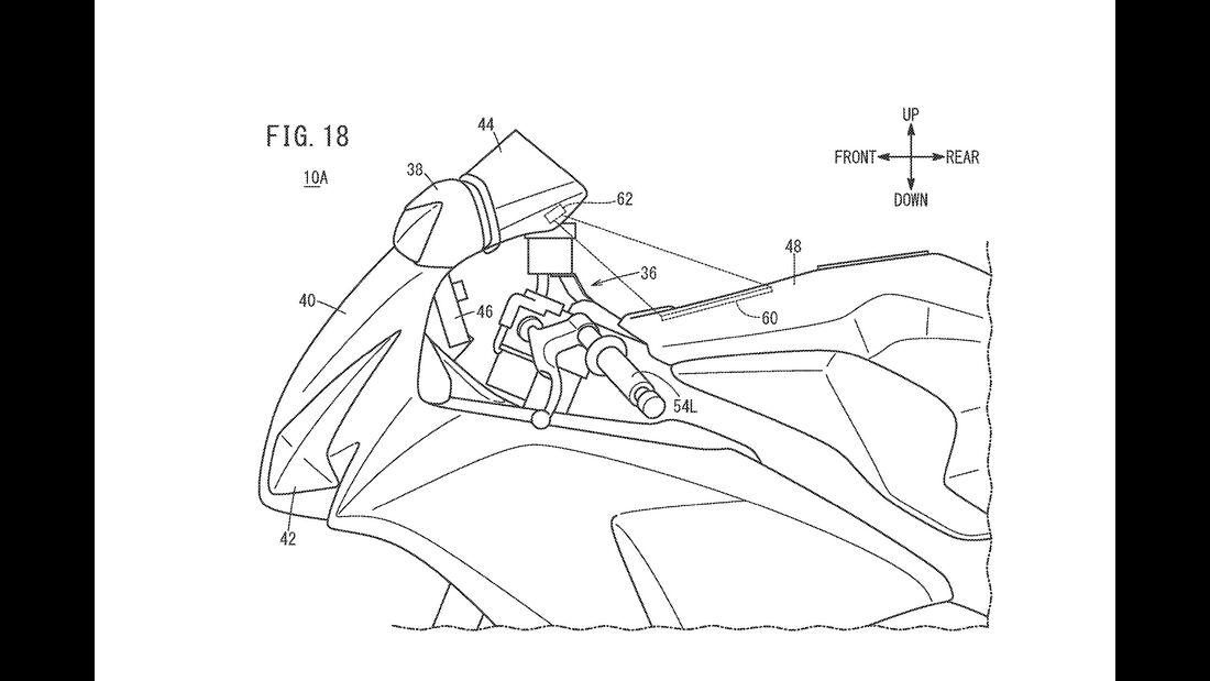 Honda Patent Head-up-Display HUD