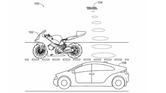 Honda Patent Motorrad Drohne