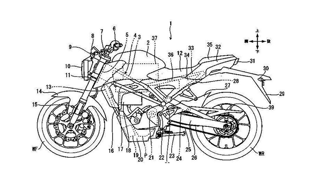 Honda Patent kleines Elektromotorrad