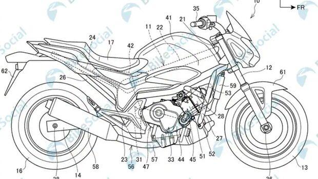 Honda Patentanmeldung: Kommt ein neuer Reihenzweizylindermotor mit 850 cm³?