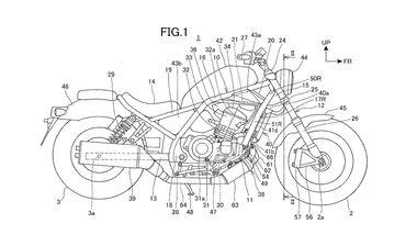 Honda Rebel 1100 Patentbilder