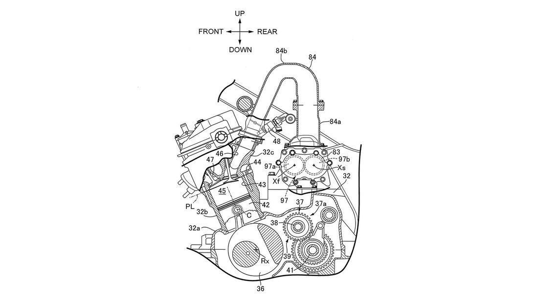 Honda Reihentwin Kompressor Patent
