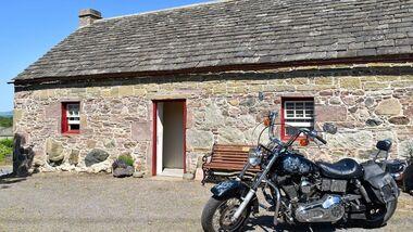 Hütte der Davidsons in Schottland
