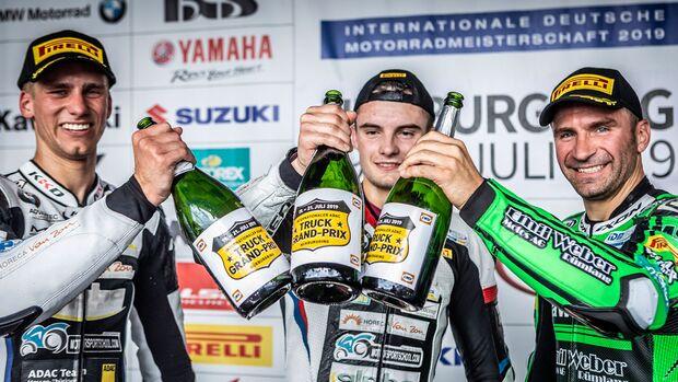 IDM Superbike 1000  Nürburgring Julian Puffe 1 Marc Moser 3 Erwan Nigon