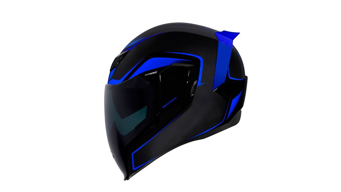 Icon Helme 2021 Airflite Crosslink Blue