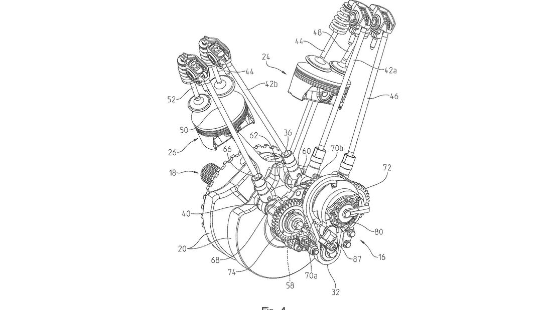 Indian Thunderstroke Motor Patent Variable Ventilsteuerung