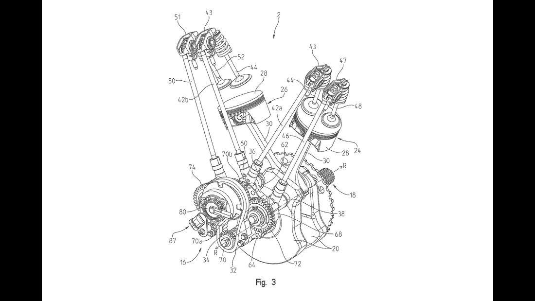 Indian Thunderstroke Motor Patent Variable Ventilsteuerung