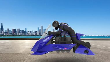 Jetpack Aviation Recreational Speeder Fliegendes Motorrad.