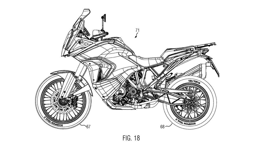 KTM 1290 Super Adventure Patentbilder