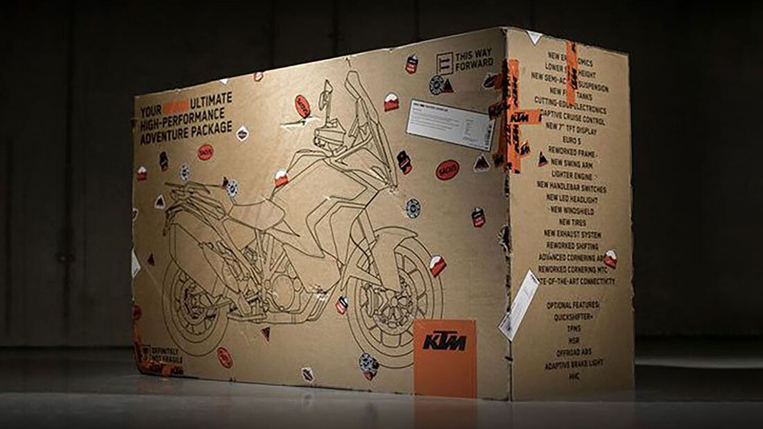 KTM 1290 Super Adventure Unboxing Schachtel