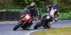 KTM 690 SMC-R und Ducati Hypermotard 950 SP
