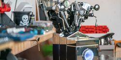 "Kaffeemaschine Da Vincie ""Motormaschine"" im Harley-Davidson-Style"