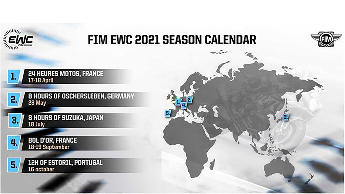 Kalender Langstrecken WM 2021