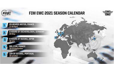 Kalender Langstrecken WM 2021