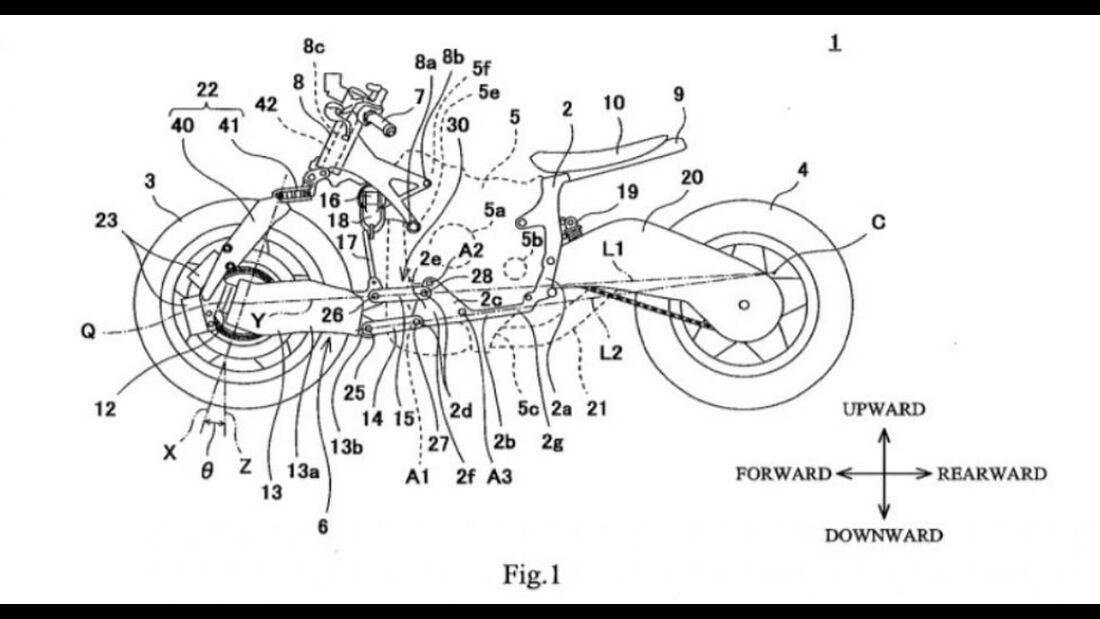 Kawasaki Achsschenkellenkung Patent