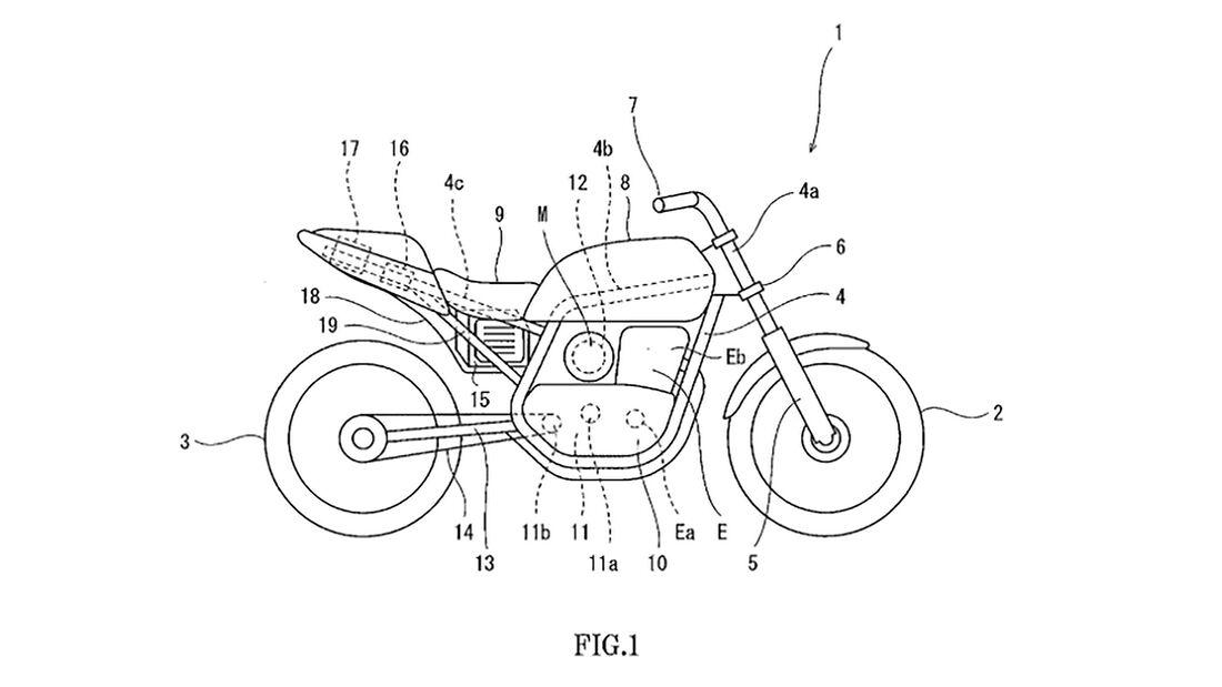 Kawasaki Hybridantrieb Patent