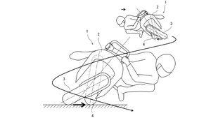 Kawasaki Patent leaning bike