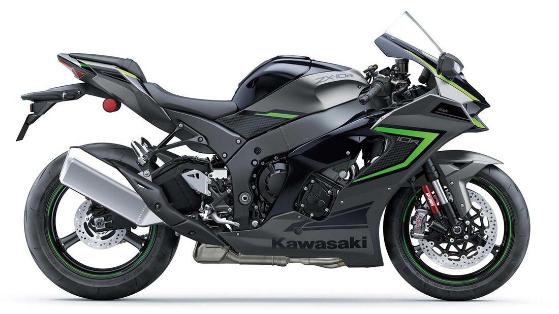 Kawasaki ZX-10 R 2022 schwarz'/grau