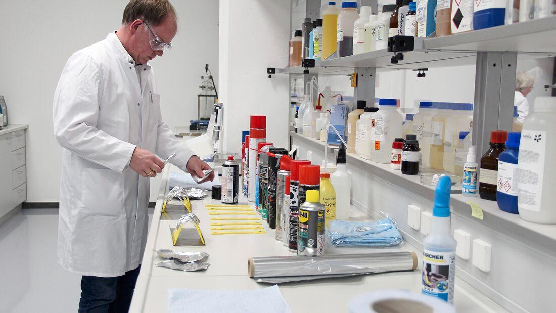 Kettenspray-Vergleichstest 2020: Labor.