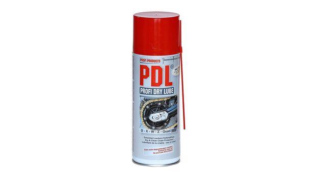Kettenspray-Vergleichstest 2020: PDL Profi Dry Lube.