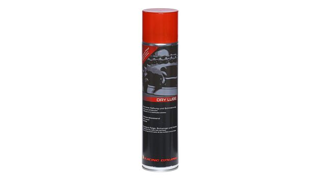 Kettenspray-Vergleichstest 2020: Racing Dynamic Dry Lube Kettenspray.