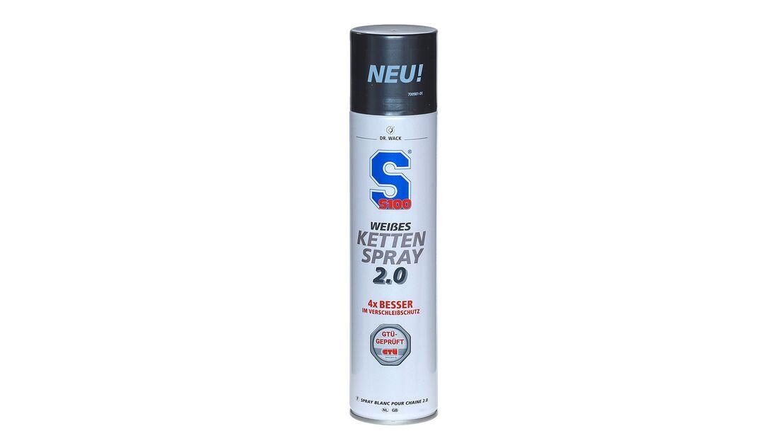 Kettenspray-Vergleichstest 2020: S100 weißes Kettenspray 2.0.