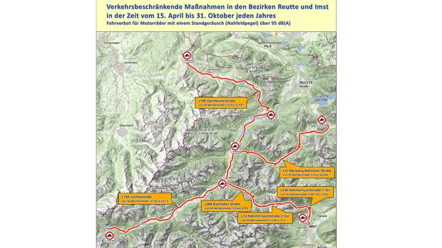 Lärmfahrverbot Tirol 2021
