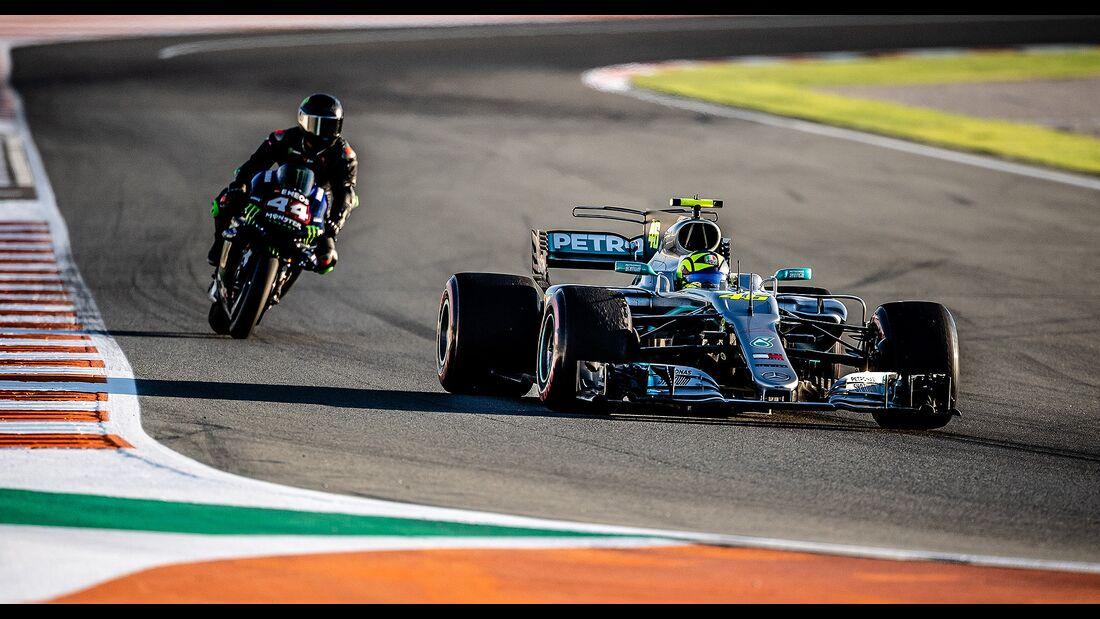 Lewis Hamilton Valentino Rossi Fahrzeugtausch 2019