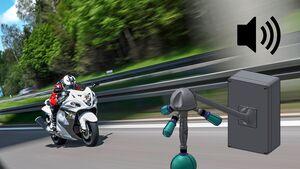 Méduse - Lärmblitzer im Straßenverkehr in Frankreich.