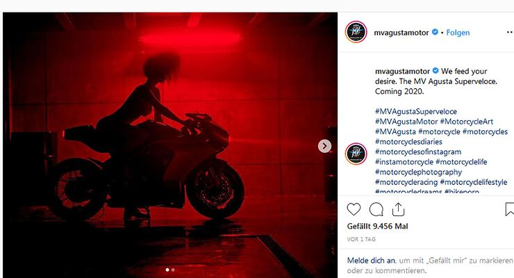MV Agusta Superveloce 800 Instagram Teaser