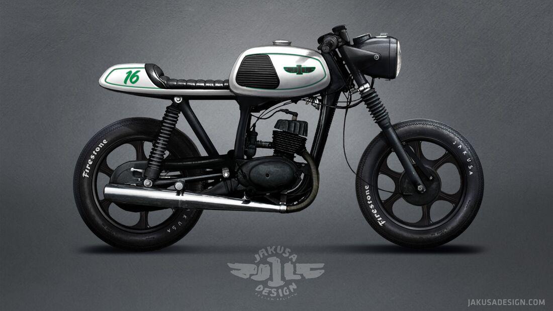 MZ TS 150 Cafe Racer von Jakusa Design.