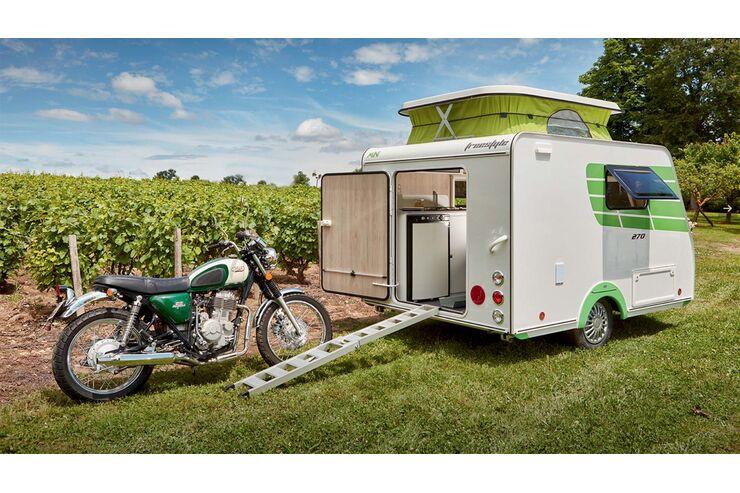 5 wohnwagen f r den motorradtransport. Black Bedroom Furniture Sets. Home Design Ideas