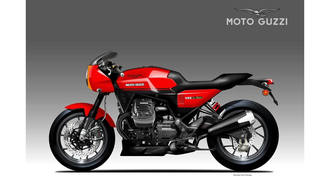 Moto Guzzi V85 Le Mans Concept.