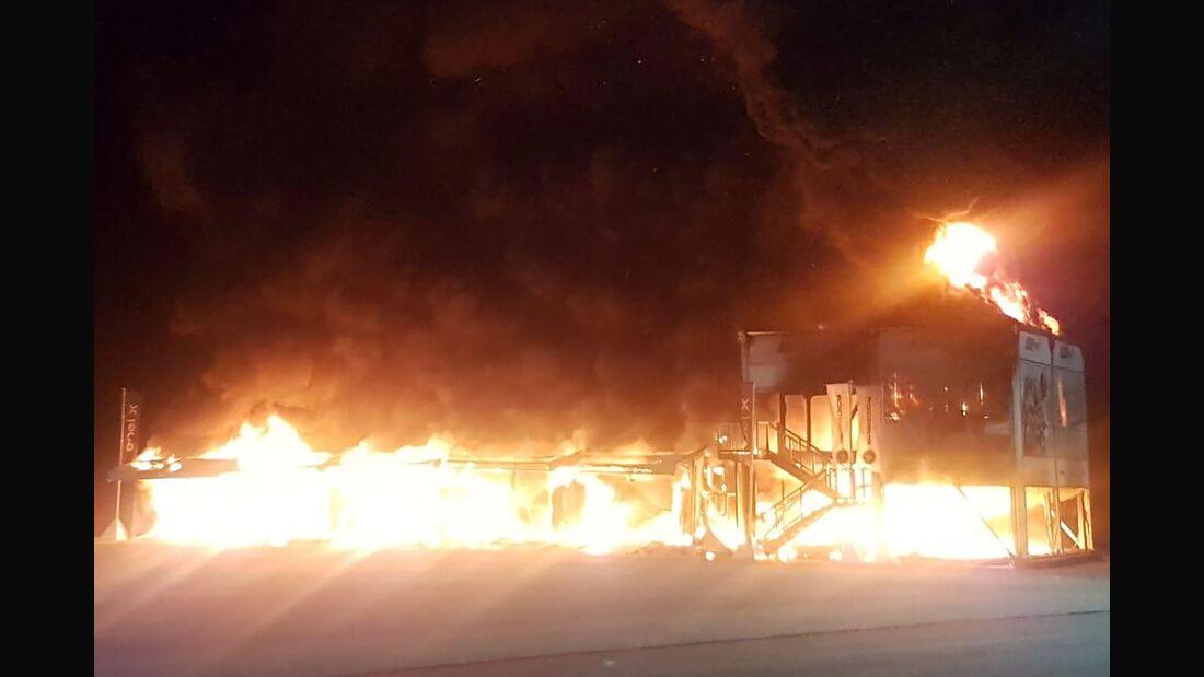MotoE - Alle Rennmotorräder und weiteres Equipment abgebrannt.