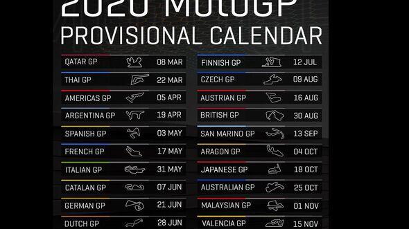 MotoGP Kalender 2020
