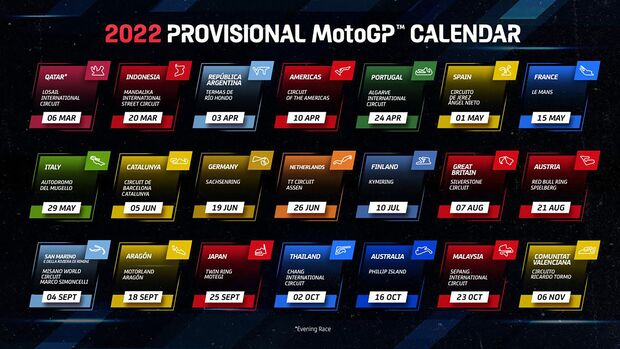 MotoGP Kalender 2022