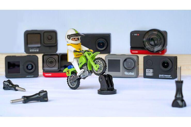Actioncams und Dashcams im Test: 10 kleine Kameras für Motorradfahrer im Vergleich