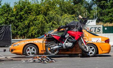 Motorrad-Crashtest