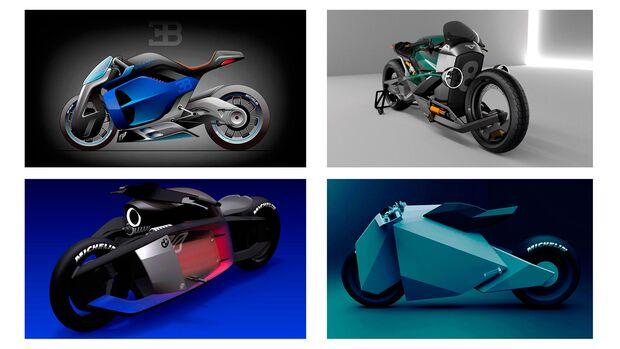 Motorrad Entwürfe von Thomas Angebault