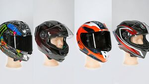 Motorrad-Karbonhelme im Test 2019