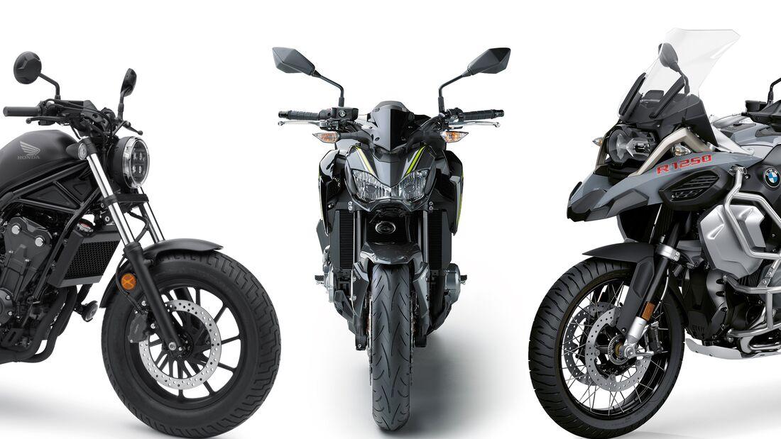 Motorrad-Neuzulassungen im April 2020.