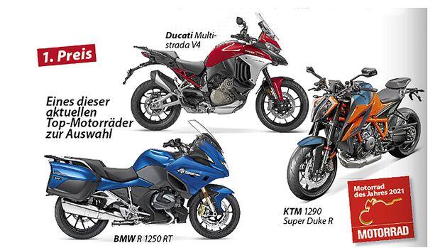 Motorrad des Jahres Leserwahl 2021 Preise