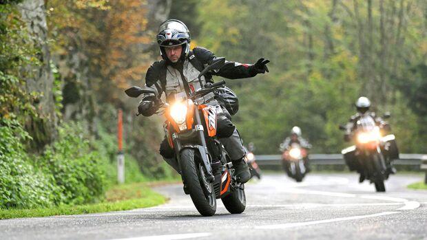 Motorradfahren in der Gruppe