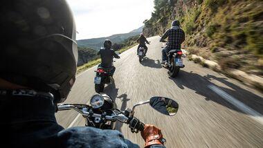 Motorradlärm Ausfahrt Motorradtour
