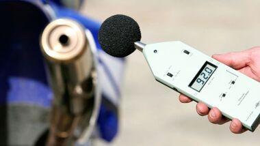 Motorradlärm Lärmmessung Lautstärke