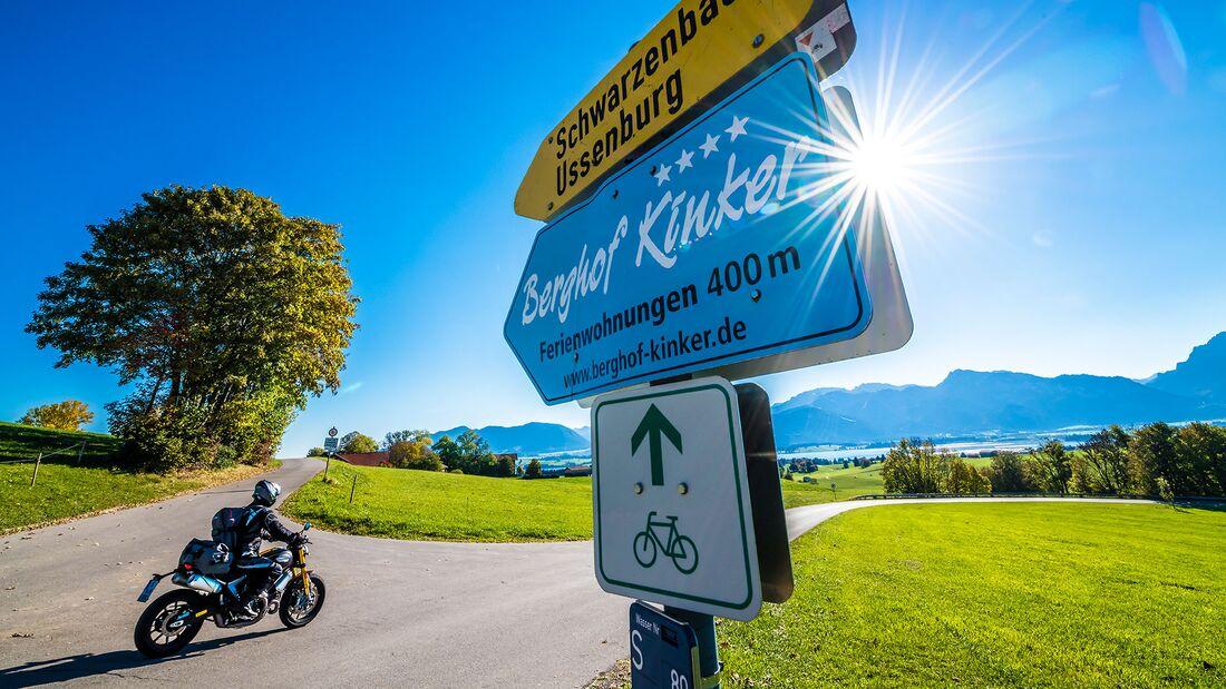 Motorradtour Bayerische Seen