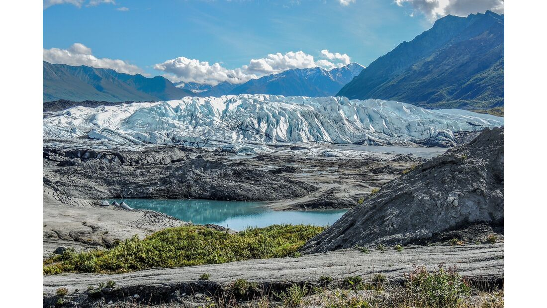 Motorradtour durch Alaska mit SW-Motech Mantuska Gletscher