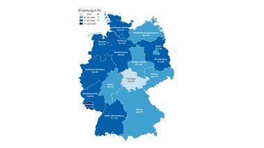 Motorradversicherung Bundesland Motorrad Leistung in PS